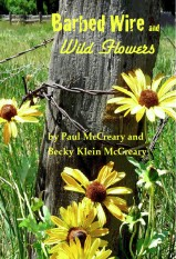 Cover text for Barbed Wire and Wildflowers
